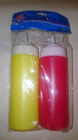 Pack of 2 squeezy sauce bottles (Code 1928)